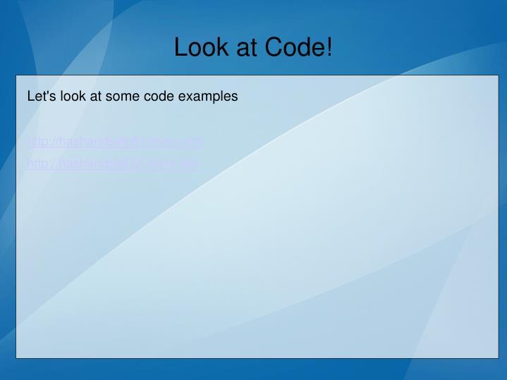 Look at Code!