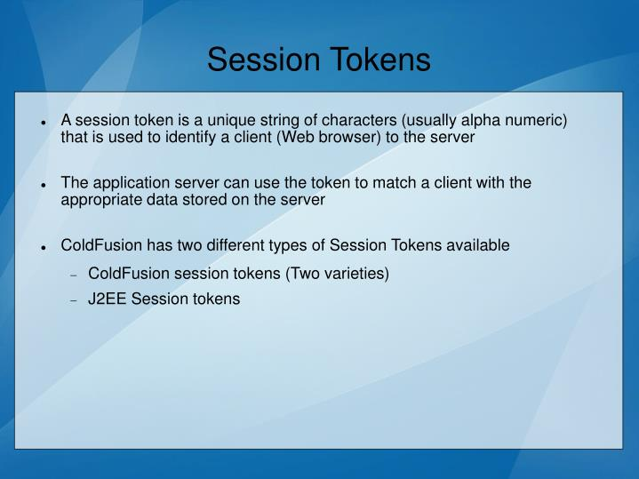 Session Tokens