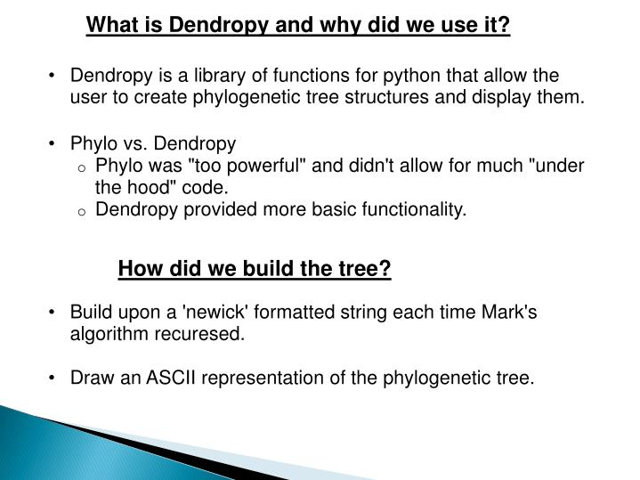 What is Dendropy and why did we use it?