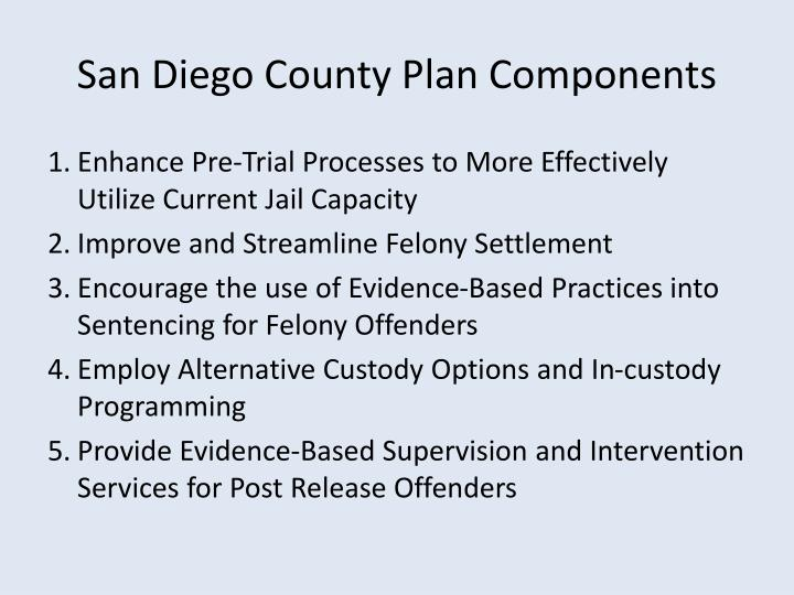 San Diego County Plan Components