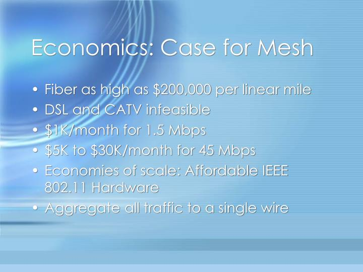 Economics: Case for Mesh
