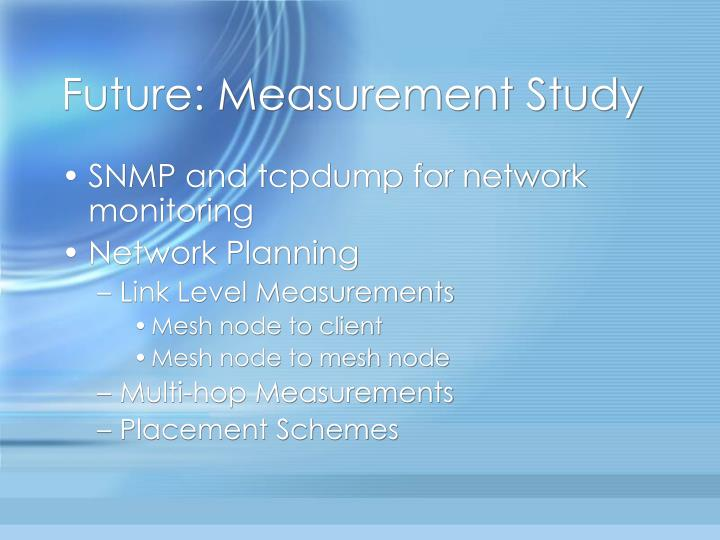 Future: Measurement Study