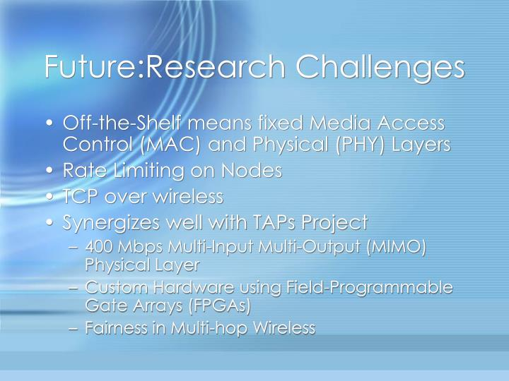 Future:Research Challenges