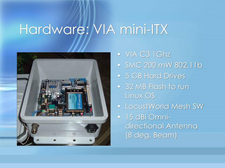 Hardware: VIA mini-ITX