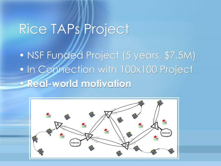 Rice TAPs Project
