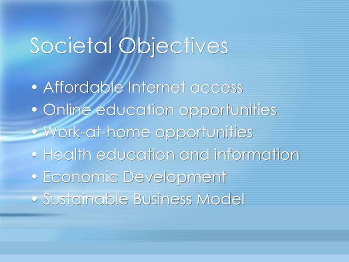 Societal Objectives
