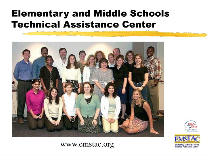 Elementary and middle schools technical assistance center