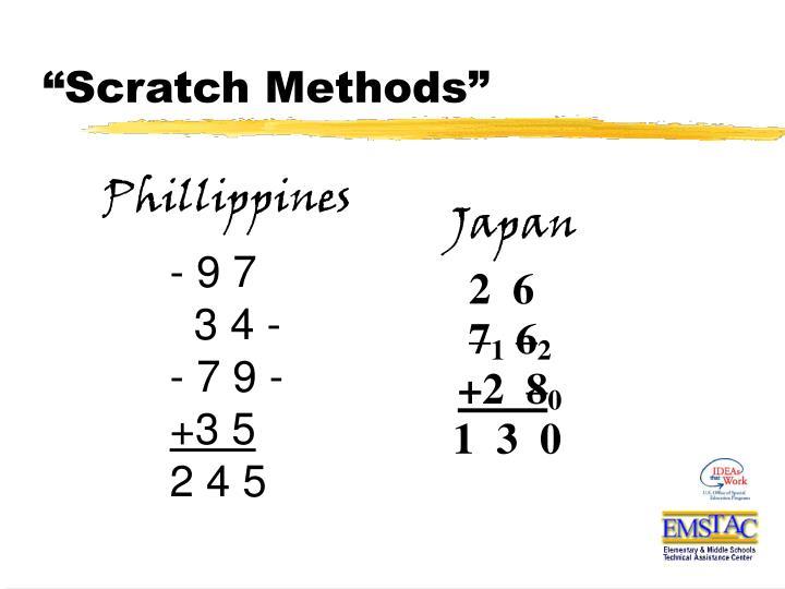 """""""Scratch Methods"""""""