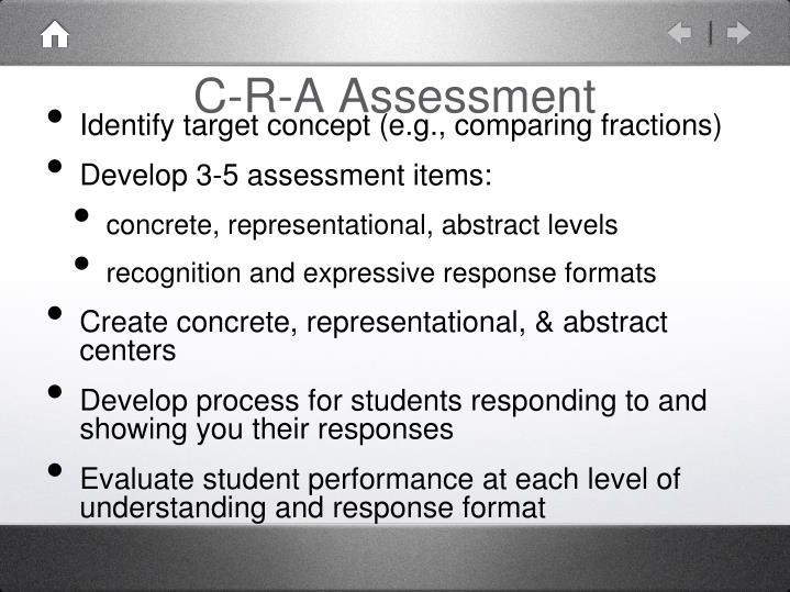 C-R-A Assessment