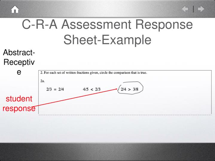 C-R-A Assessment Response Sheet-Example