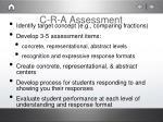 c r a assessment
