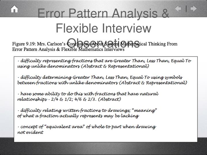Error Pattern Analysis & Flexible Interview Observations