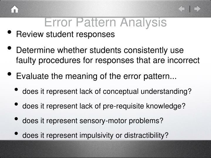 Error Pattern Analysis