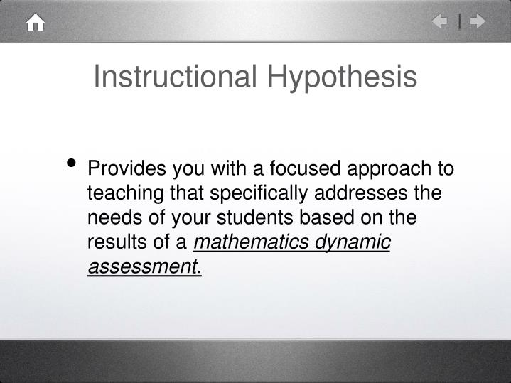 Instructional Hypothesis