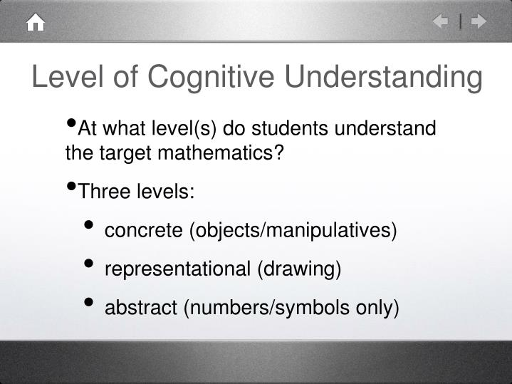 Level of Cognitive Understanding