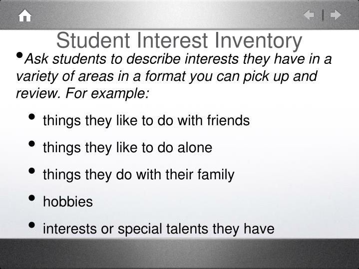 Student Interest Inventory