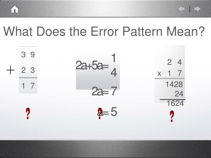 What Does the Error Pattern Mean?