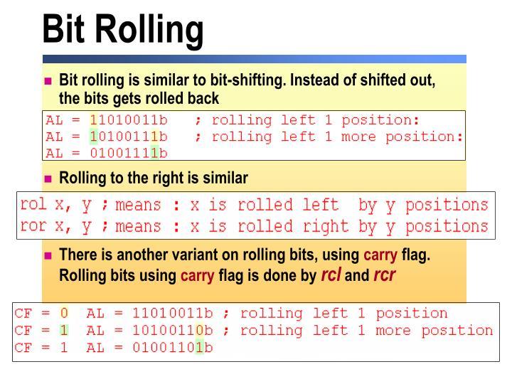 Bit Rolling