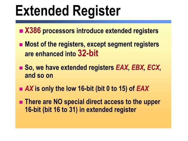 Extended Register