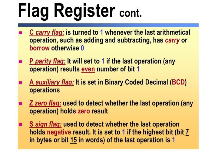 Flag Register