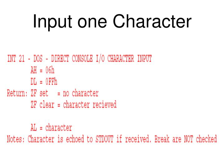 Input one Character