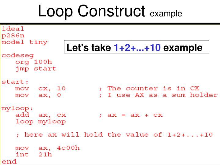 Loop Construct