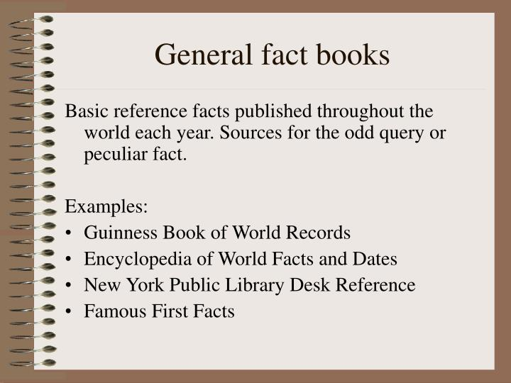 General fact books
