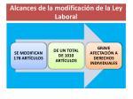 alcances de la modificaci n de la ley laboral
