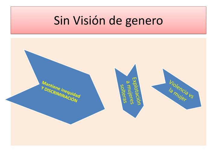 Sin Visión de genero