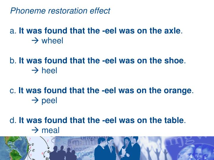 Phoneme restoration effect