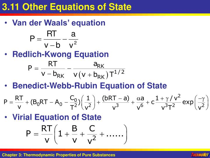 3.11 Other Equations of State