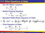 3 11 other equations of state
