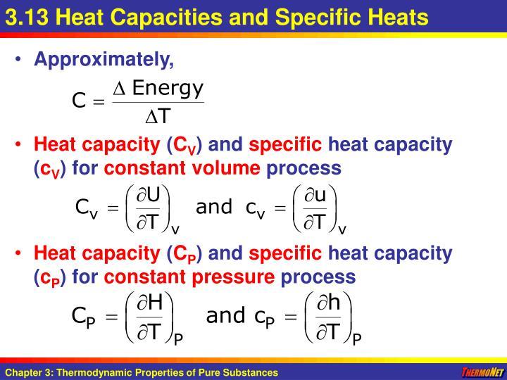 3.13 Heat Capacities and Specific Heats