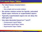 3 4 liquid vapor tables