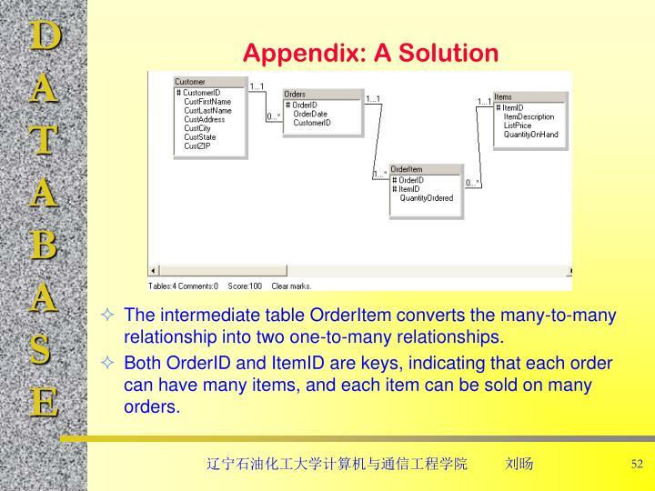 Appendix: A Solution