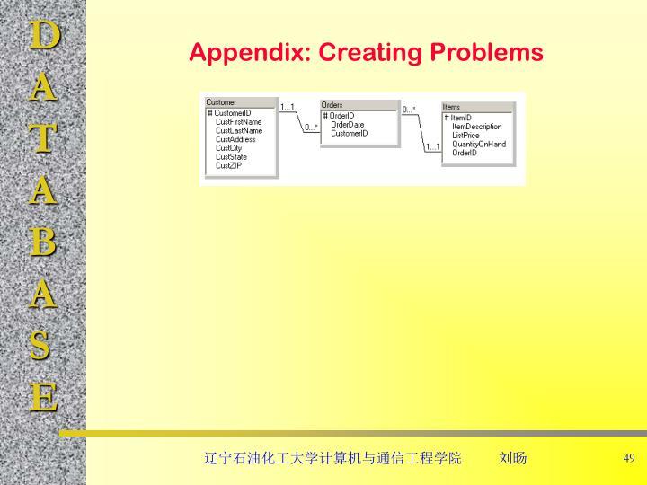 Appendix: Creating Problems