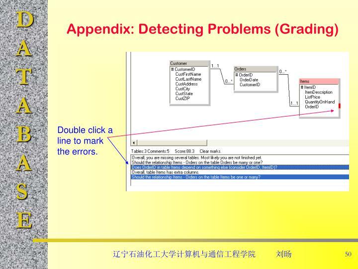 Appendix: Detecting Problems (Grading)