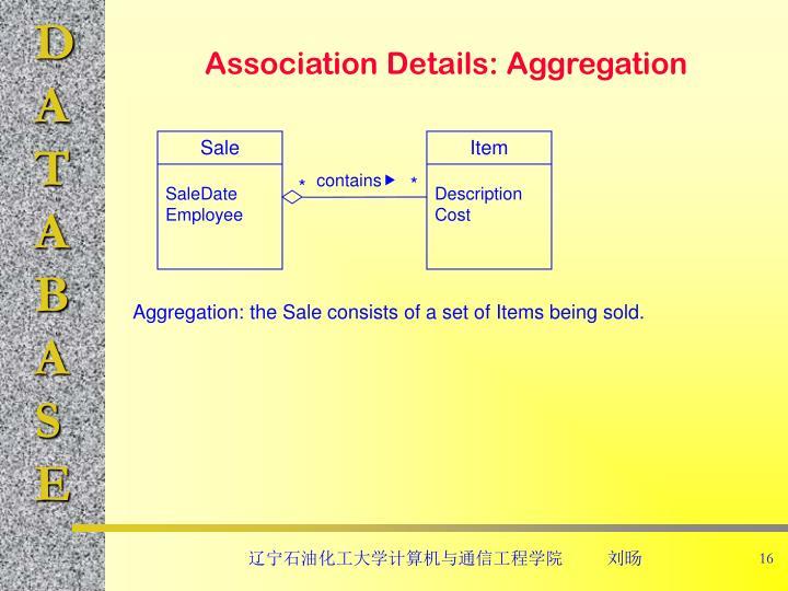 Association Details: Aggregation