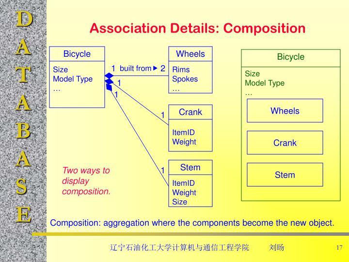 Association Details: Composition