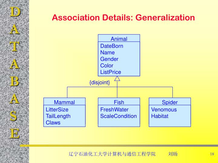 Association Details: Generalization