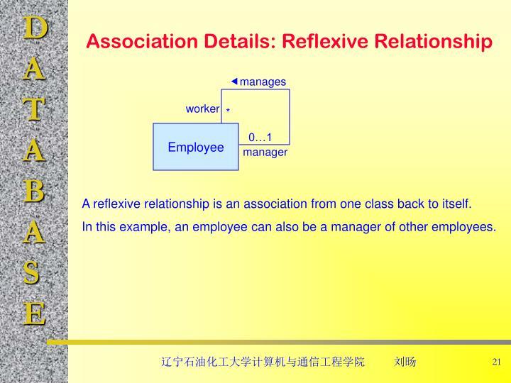 Association Details: Reflexive Relationship