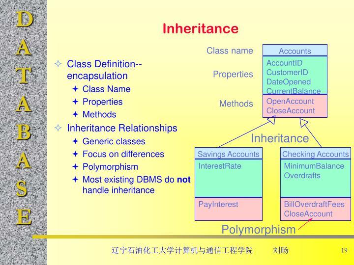 Class Definition--encapsulation