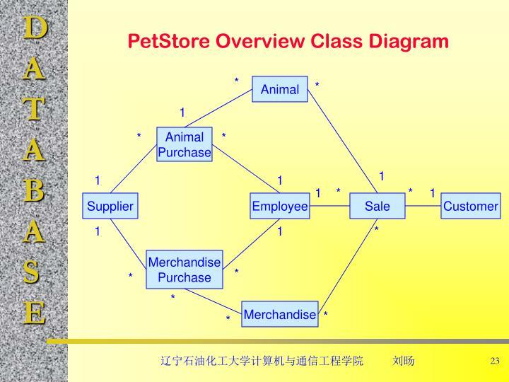 PetStore Overview Class Diagram