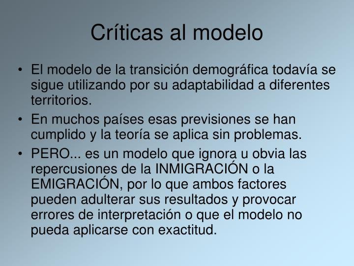 Críticas al modelo