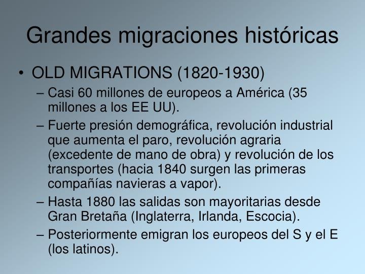 Grandes migraciones históricas