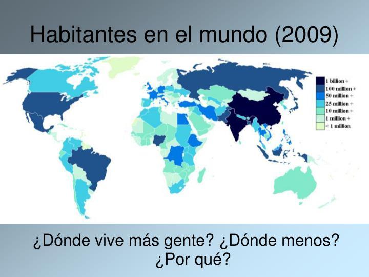 Habitantes en el mundo (2009)