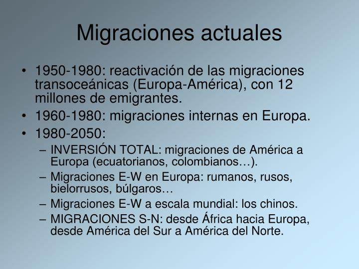 Migraciones actuales