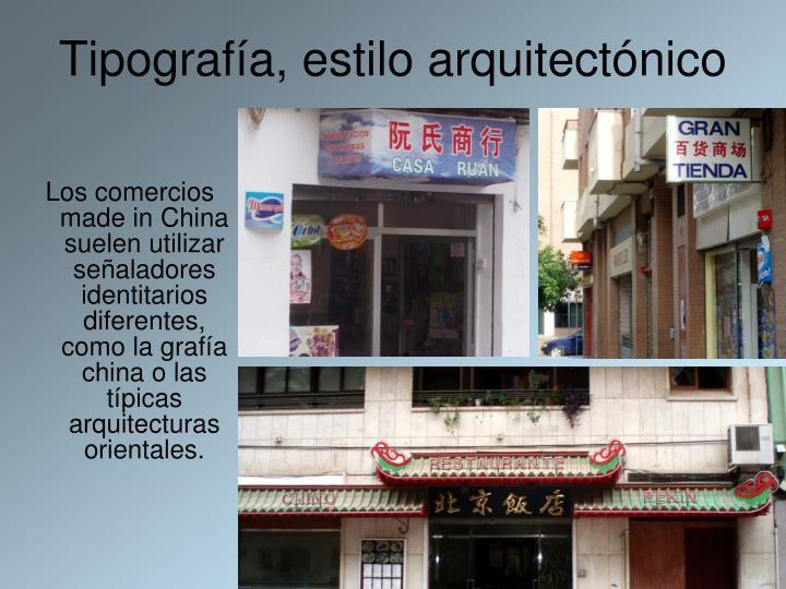 Tipografía, estilo arquitectónico