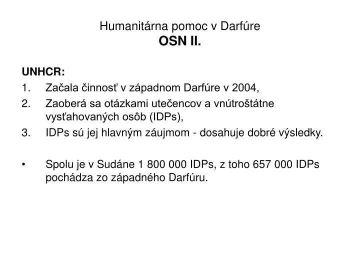 Humanitárna pomoc v Darfúre