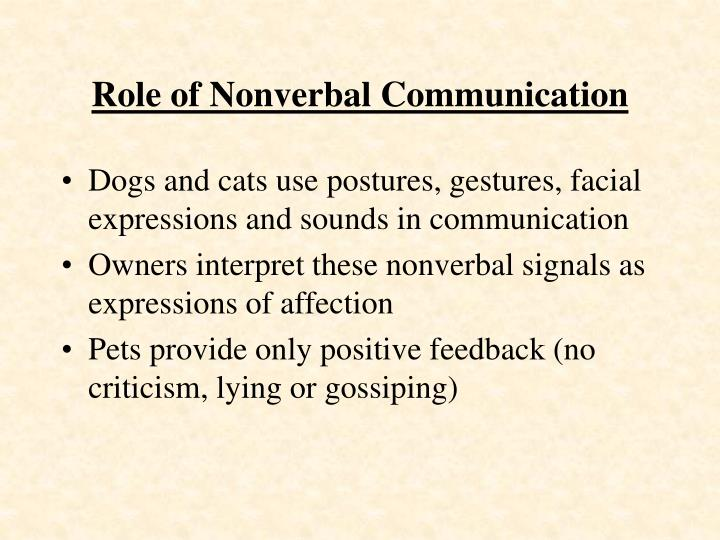 Role of Nonverbal Communication